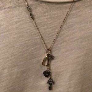 Wishbone & Key Necklace